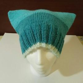 Knit Square_Cat Hat dark blue 001