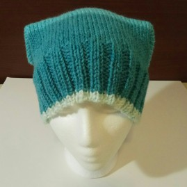 Knit Square_Cat Hat dark blue 003