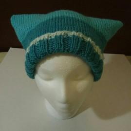 Knit Square_Cat Hat dark blue 005